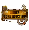 Under construction banner vector image