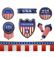 4th of July Badges vector image