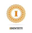 I Letter monogram logo abstract design vector image