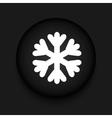 modern snowflake black circle icon vector image