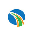 circle abstract arrow business finance logo vector image