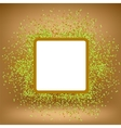 White Square Banner on Orange Gradient Background vector image