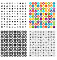 100 mother and child icons set variant vector image