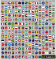 220 Flags of the world circular shape vector image