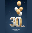 30th year anniversary background vector image vector image