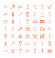 49 repair icons vector image vector image