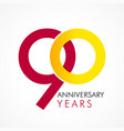 90 circle anniversary logo