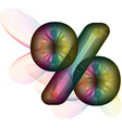 Abstract colorful symbol vector image vector image