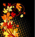 Autumnal leaves background vector image