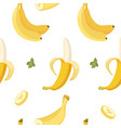banana seamless pattern organic yellow vector image
