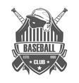 baseball badge bat vector image vector image