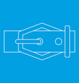 belt icon outline style vector image vector image