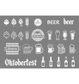 black beer icons set lager vector image vector image