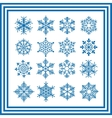 blue snowflakes collection vector image vector image