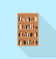 bookcase icon set of great flat icons use for vector image