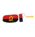 brush stroke with angola national flag isolated on vector image vector image
