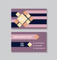 business model name card luxury modern black vector image vector image
