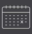 calendar line icon time and date reminder vector image vector image