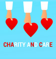 charity and care flat concept vector image