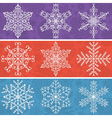 Color background with snowflakes line stile vector image vector image