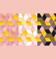 cute and stylish geometric shapes mosaic vector image vector image