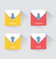 Download And Upload Icons 2 vector image vector image