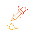 dropper icon design vector image