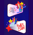 education cartoon banner vector image vector image