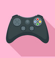 entertainment gamepad icon flat style vector image vector image