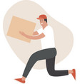 fast and safe delivery running courier vector image