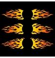 Flame design elements logo templates vector image