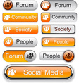 Forum high-detailed modern buttons vector image vector image