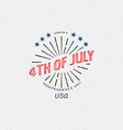 Fourth of July Independence Day USA badges logos vector image vector image