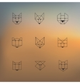 geometric animals vector image