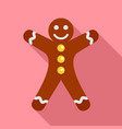 ginger bread icon flat style vector image