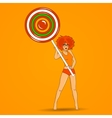 girl with lollipop vector image