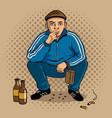gopnik hooligan man pop art vector image vector image