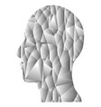 gray gradient geometric head vector image vector image