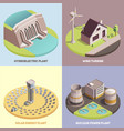 green energy isometric concept vector image