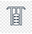 gym station concept linear icon isolated on vector image