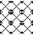 halloween skull seamless pattern mexican c vector image
