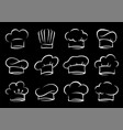 hand drawn set of chef and cook hats vector image