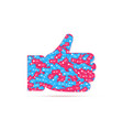 hand thumbs up icon of likes filled of different vector image