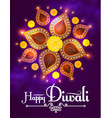 happy diwali traditional indian festival vector image vector image