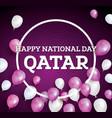 Happy National Day Qatar vector image