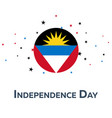 independence day of antigua and barbuda patriotic vector image vector image