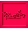 inscription paper merry christmas vector image vector image