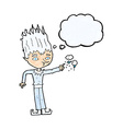 jack frost cartoon with thought bubble vector image vector image