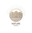 logo nature vector image