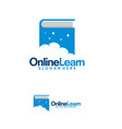online learning logo template cloud book logo vector image vector image